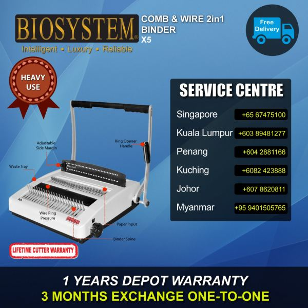 X5 Comb & Wire Binder Office Equipment Johor Bahru JB Malaysia Supply Suppliers Retailer | LEO Automation Trading