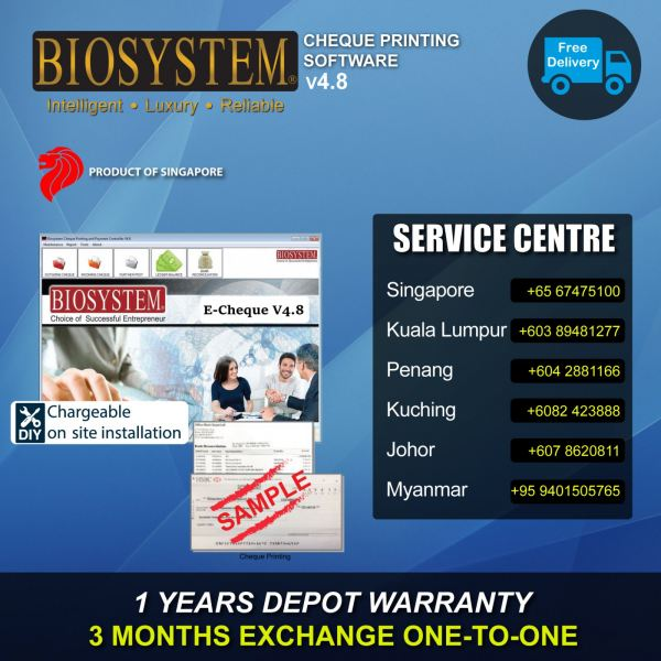 V4.8 Cheque & Payment System Banking Equipment Johor Bahru JB Malaysia Supply Suppliers Retailer | LEO Automation Trading