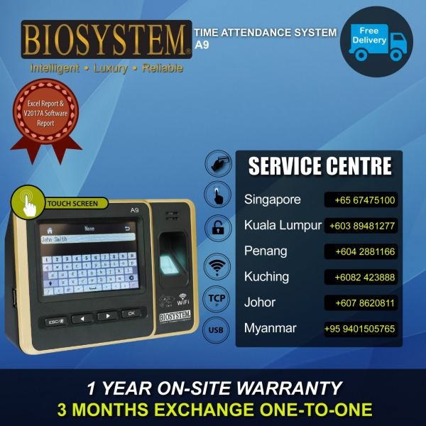 A9 Thumbprint Time Attendance Johor Bahru JB Malaysia Supply Suppliers Retailer | LEO Automation Trading