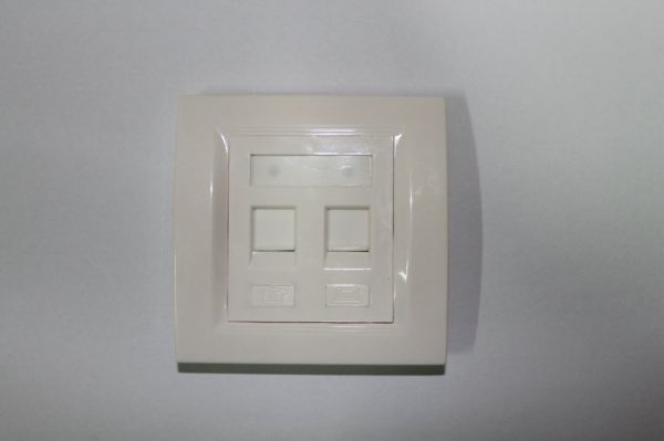 Double Port Faceplate Network Accessories Networking Products Puchong, Selangor, Malaysia  | Vol Solutions Sdn Bhd