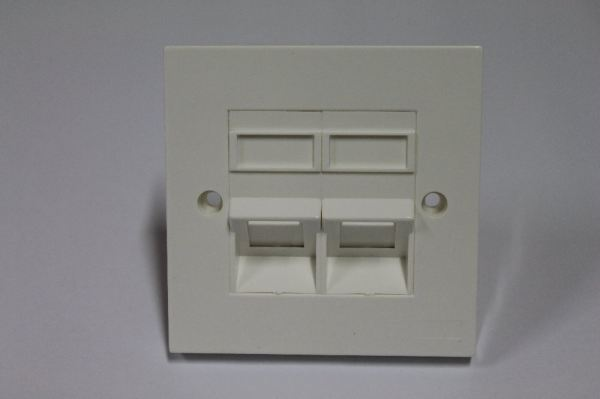 Double Port Faceplate 45degree Network Accessories Networking Products Puchong, Selangor, Malaysia  | Vol Solutions Sdn Bhd