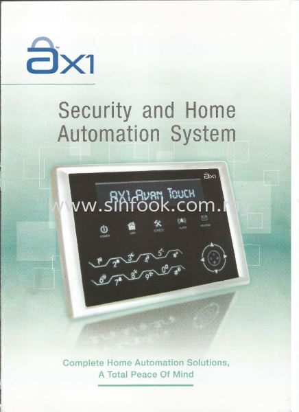 ax1 Home Alarm System ax1 Burglary Alarm System Johor Bahru (JB), Senai, Selangor, Kuala Lumpur (KL), Klang Installation, Services, Repair, Supplier | Sin Fook Electrical Alarm and Auto Gate Sdn. Bhd.