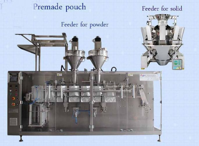 VFFS180-H100 Premade Stand up Pouch/flat Pouch with Zipper Packing Machine