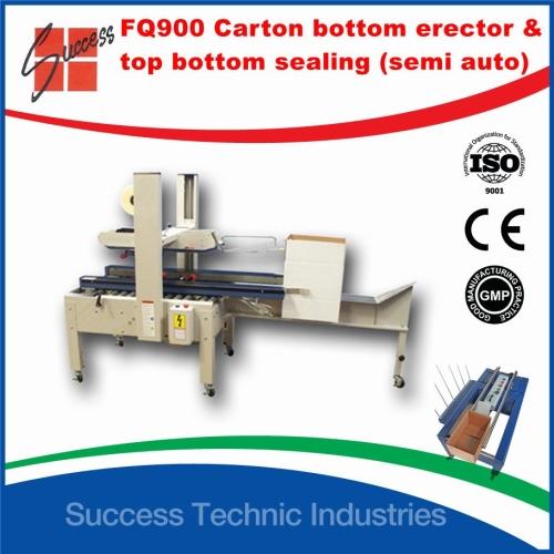 FQ900-200 Carton bottom erector and top bottom sealing machine