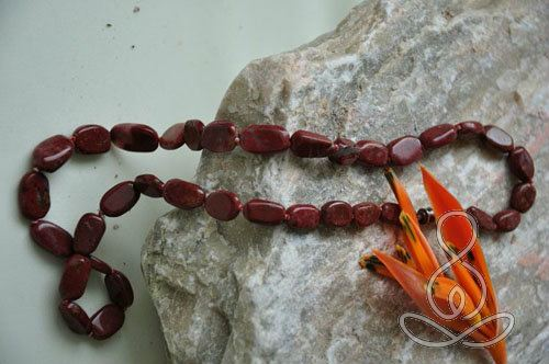 Jasper Necklace 17'' Red Oval Root Chakra Stone Necklaces Crystal and Gemstones Store Selangor, Malaysia, Kuala Lumpur (KL), Puchong Classes, Instructor, Courses | Ekta Holistic Centre Sdn Bhd
