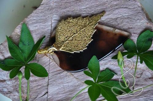 Gold Leaf Pendant 14k Agate Brown Crystal Pendants Crystals and Gemstones Selangor, Malaysia, Kuala Lumpur (KL), Puchong Classes, Instructor, Courses | Ekta Holistic Centre Sdn Bhd