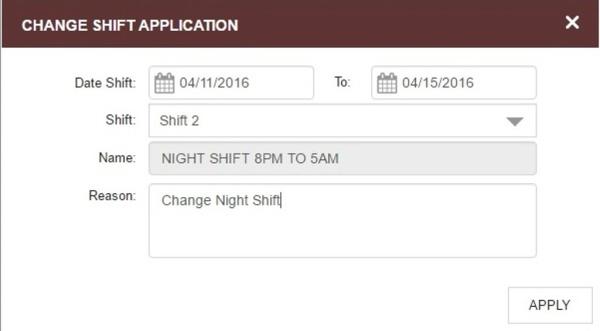 Change Shift Application On Phone App