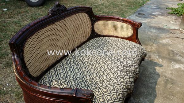 Rattan Sofa After Repair