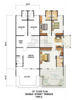 1ST FLOOR PLAN DOUBLE STOREY TERRACE TYPE A