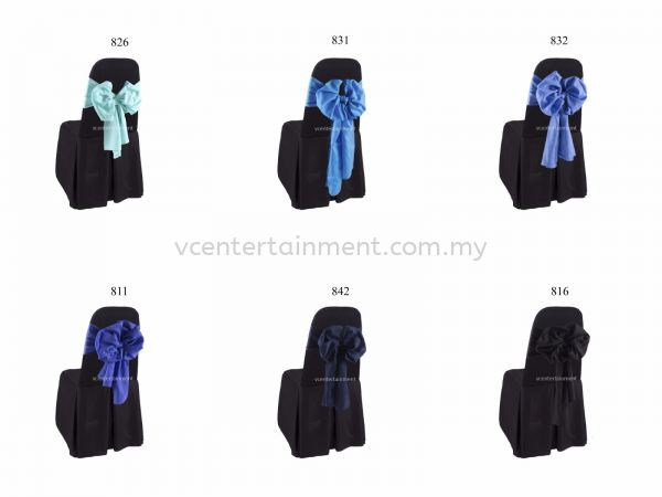 Black Normal Banquet Chair Cover with Ribbon