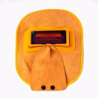 WH - T131 LEATHER AUTO DARKENING WELDING HELMENT