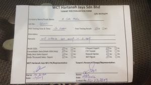 Paradigm Mall POS System Pre Test Approval Form