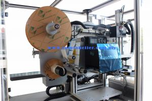 Custom Solo Print & Apply System c/w Rotary Indexer Auto Bag Pick & Paste (Clean Room)