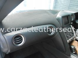 NISSAN GTR DASHBOARD REPLACE ALCANTARA