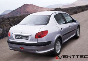 PEUGEOT 206 SEDAN venttec door visor