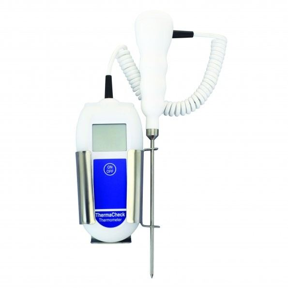 THERMACHECK THERMOMETER COMPLETE WITH THERMISTOR PENETRATION PROBE