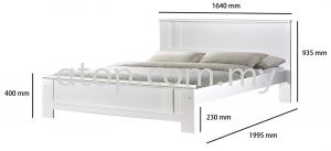 Atop ATN 3502WH Bed Frame