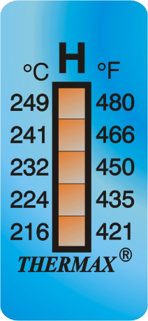 THERMAX 5 LEVEL TEMPERATURE STRIPS