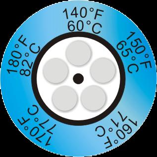 THERMAX 5 LEVEL TEMPERATURE CLOCK INDICATOR