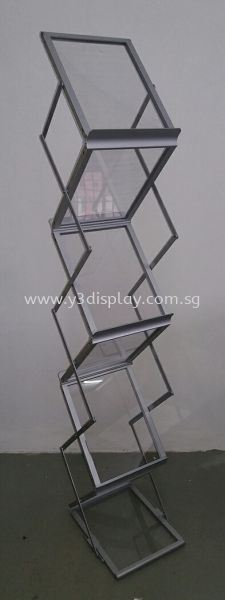 117104-Zig Zag Stand-Acrylic Brochure Stand Pop Equipment Singapore Supplier, Distributor, Supply, Supplies | Y3 Display and Storage Pte Ltd