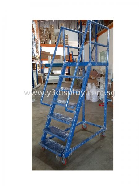 29741-LT5-LADDER TROLLEY-1500MM HIGH PLATFROM Ladder Trolley Material Handling Equipment Singapore Supplier, Distributor, Supply, Supplies   Y3 Display and Storage Pte Ltd