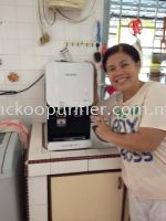 Client smile happily with her Fusion Top successfully installed @ Taman Universiti, Skudai, Johor