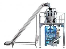 VERTICAL FORM FILL SEAL PACKING MACHINE WITH WEIGHER FILLING SYSTEM