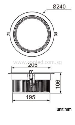 high powered downlight for high ceiling