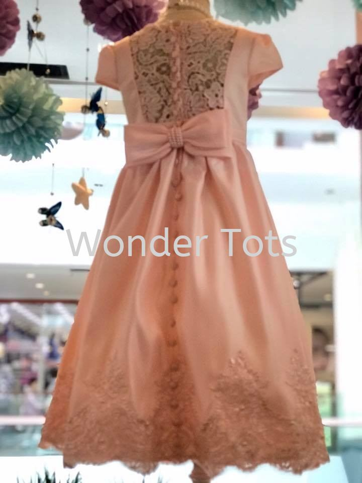 Girl Party Gown - Peach