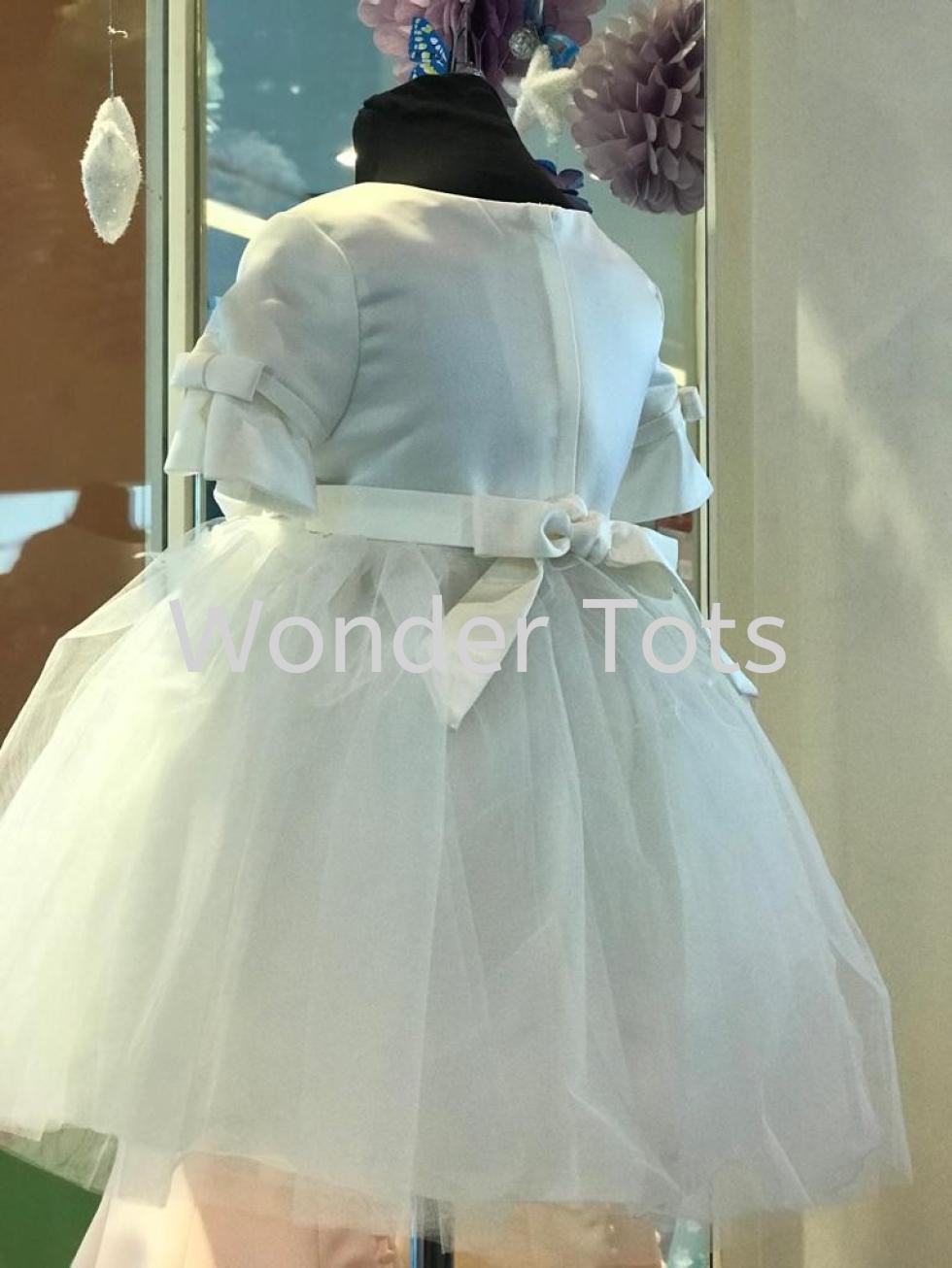 Kids Party Dress - Beige 1-4y