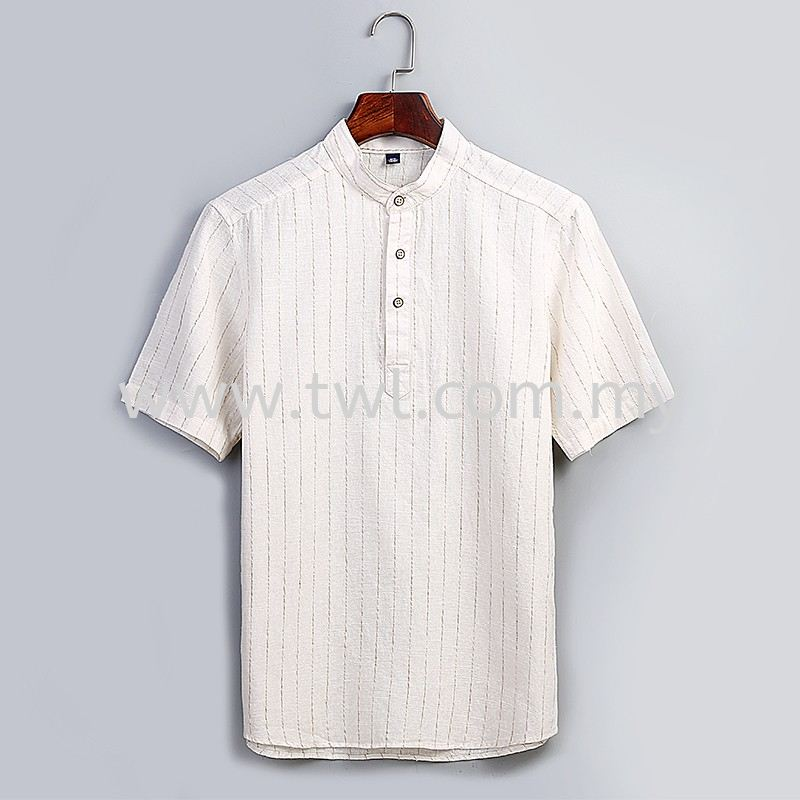 Mandarin Collar Short Sleeve Uniform