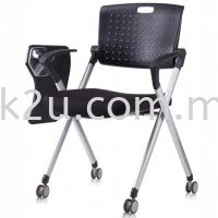 FTC-09 Roller Study Chair with Writing Tablet (Fold Aside)