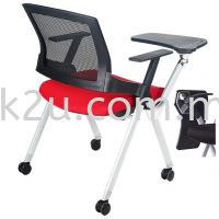 FTC-07 Roller Study Chair with Writing Tablet (Fold Aside)