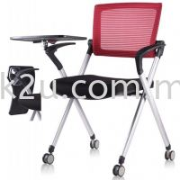 FTC-08 Roller Study Chair with Writing Tablet (Fold Aside)