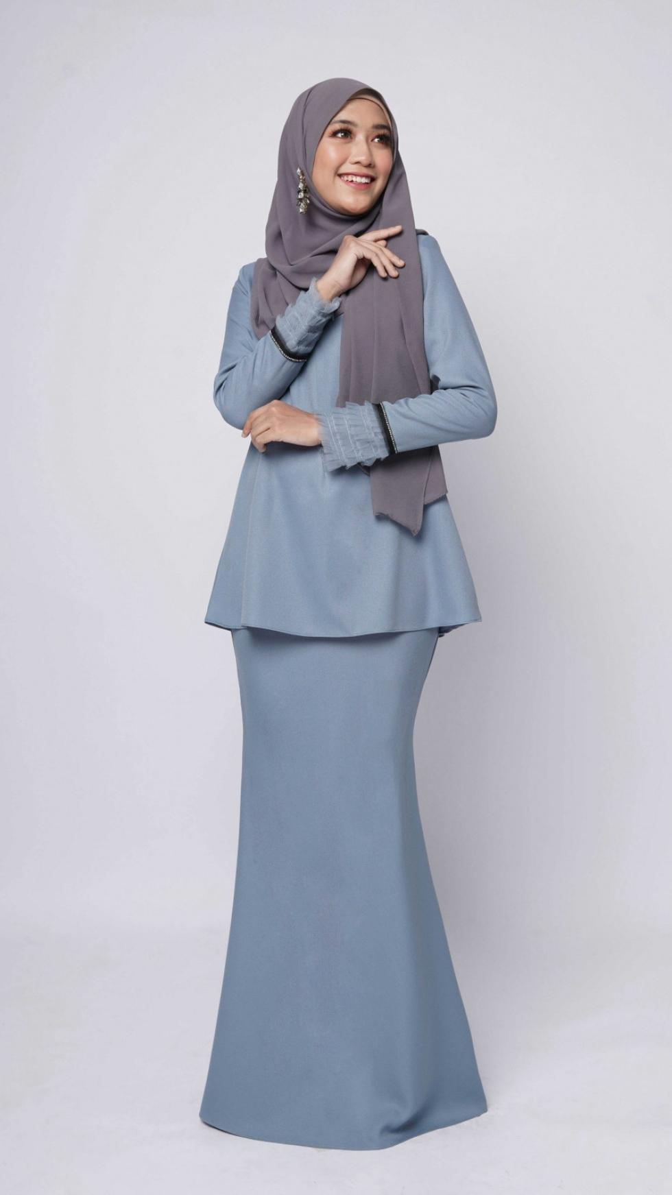 ALBINNA KURUNG - GREYISH BLUE