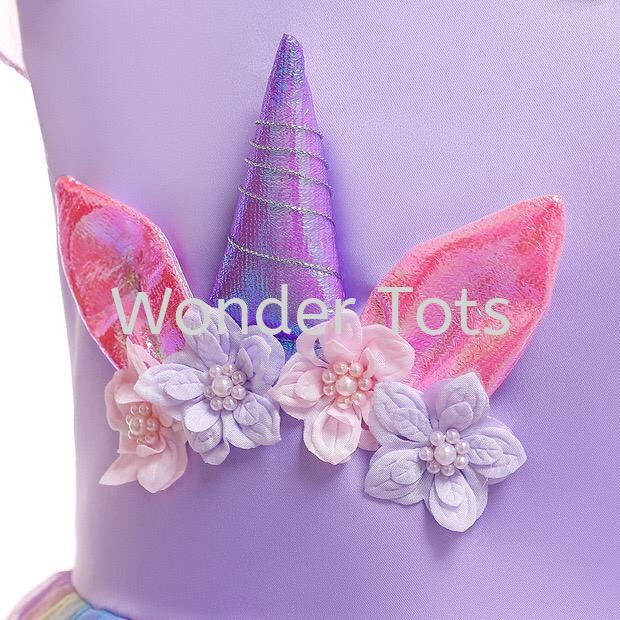 Girls Unicorn Rainbow  Dress