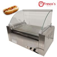 HOT DOG ROLLER GRILL WITH BUN WARMER