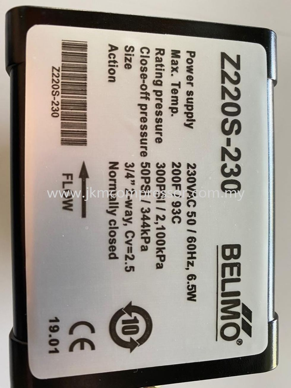 Z220S-230 - BELIMO Z220S-230 MOTORISED VALVE ; INCLUDED ACTUATOR AND 20MM VALVE