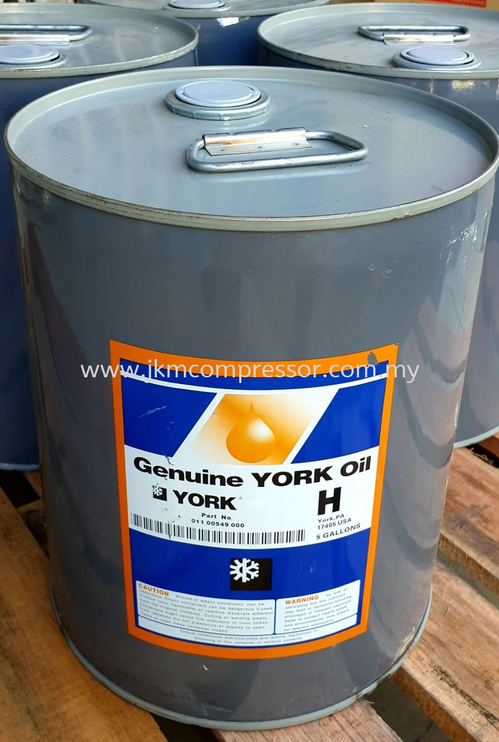 "011-00549-000 - YORK COMPRESSOR OIL ""H"" ; 5 GALLON (18.9 LITERS)"