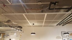 Sp. Ace Aluminium expanded mesh for interior ceiling - White Finished