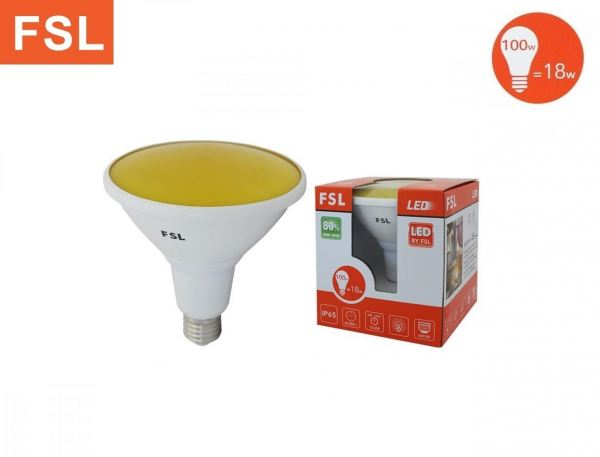 FSL 18W LED Par38 E27 - Yellow