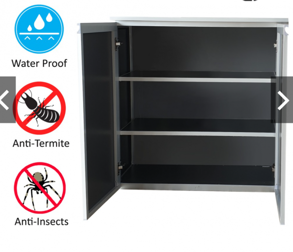 Aluminium shoe cabinet Durable with composite Board