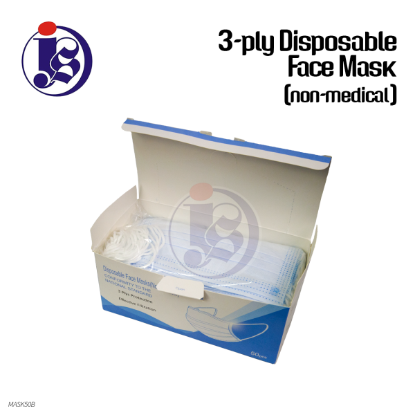 3-PLY DISPOSABLE FACE MASK (NON-MEDICAL)
