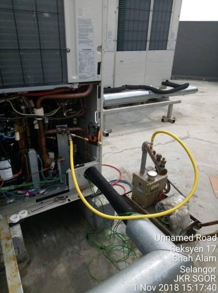 Vacuum job at JKR HQ Selangor - Mitsubishi VRF System
