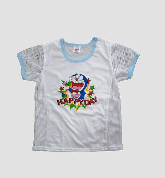 3 or 6 pcs / lot Children Kids T-Shirt Side hole Baju T-shirt Lobang Budak