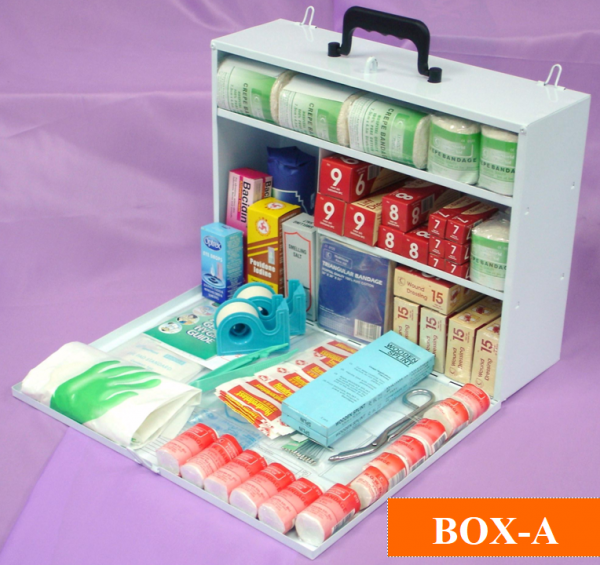 DOSH Guideline Compliance First Aid Kit Box-A