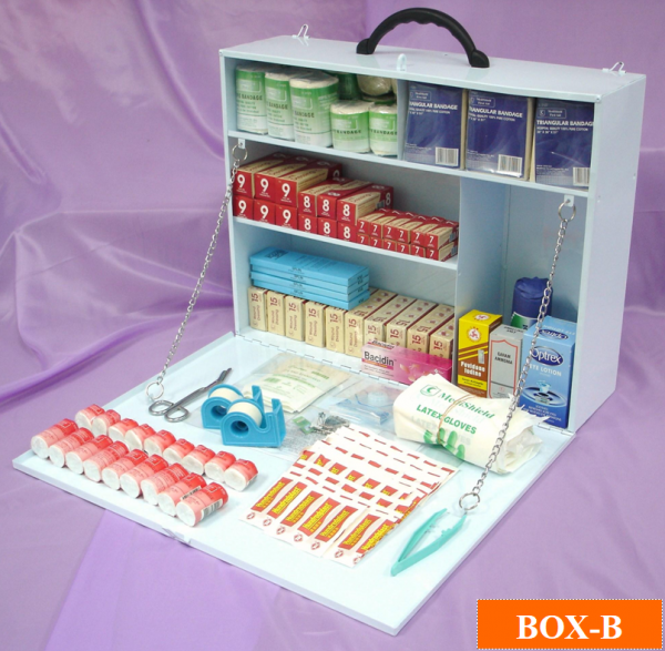 DOSH Guideline Compliance First Aid Kit Box-B