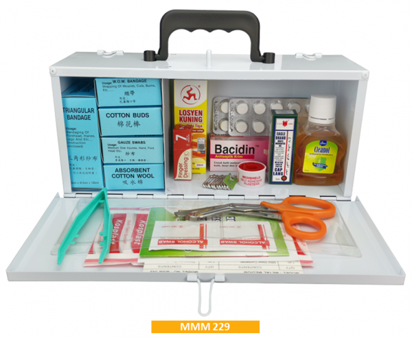 Equipped Metal First Aid Kit MMM229 - Medium