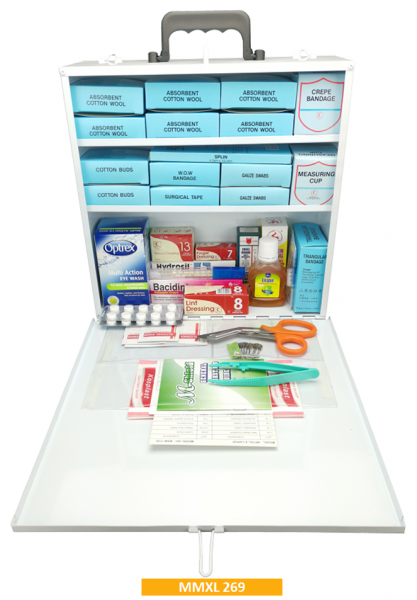 Equipped Metal First Aid Kit MMXL267 - Extra Large