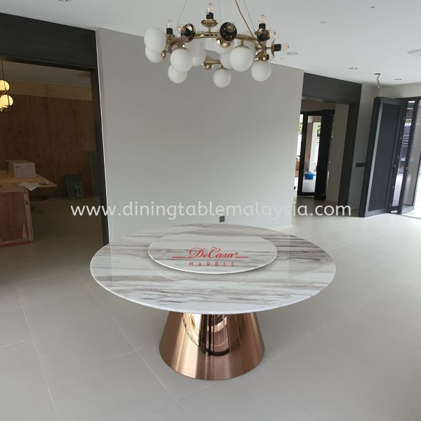 Luxury Round Marble Dining Table | Volakas | Stain Free